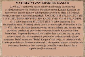 Kangur konkurs matematyczny
