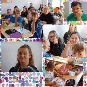 Dzień Kropki - uczniowie kl. 7 i 5