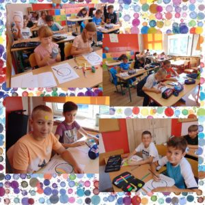 Dzień Kropki- uczniowie klasy 5