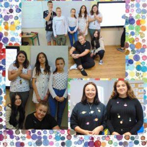 Dzień Kropki- uczniowie klas 8