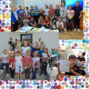 Dzień Kropki- uczniowie klas 4 i 2