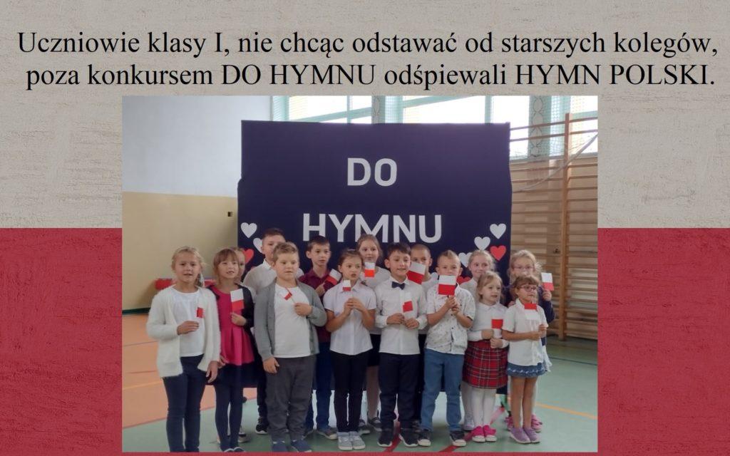 I klasa śpiewa Hymn Polski